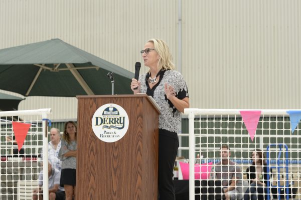 Michele Buck, President and CEO of The Hershey Company and Honorary Chairperson for the Hershey Community Center Capital Campaign