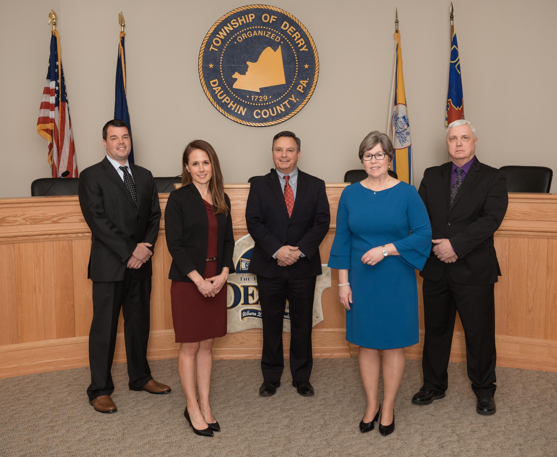 Pictured (l-r): Carter Wyckoff, Natalie Nutt, Chris Abruzzo, Susan Cort, Rick Zmuda
